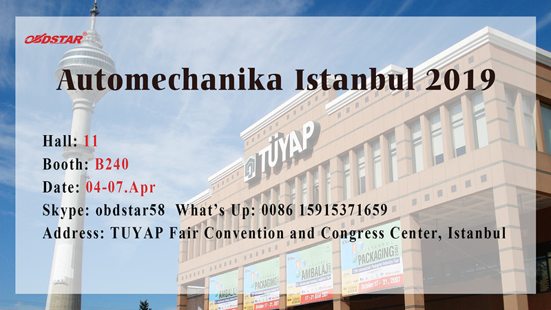 Invitation for Automechanika Istanbul 2019